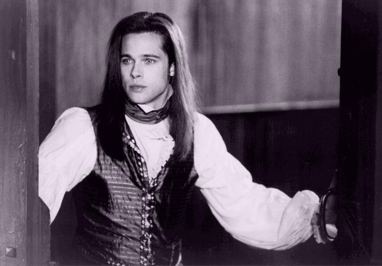 "Brad Pitt as the Dark Brooding Louis in ""Interview With The Vampire"""
